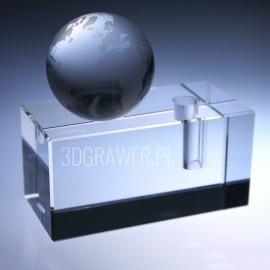 Kryształowy pojemnik na długopis