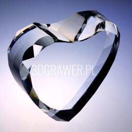 Model 10006: Kryształowa statuetka - serce 3D